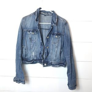 American Eagle Jean Jacket XL Distressed